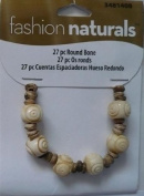 27 pc Round Bone Beads - Fashion Naturals #3481408