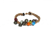 Asian Hippie Wristband Brown Line with Bell Thai Bracelet Vintage Style Fashion