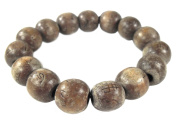 Thai Buddhist Wooden Prayer Blessed Beads Mala Brown colour Wristband Bracelet from Thailand