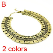 Cheap Antique Jewellery Costume Big Metal Necklace, 2 colours, NL-1696