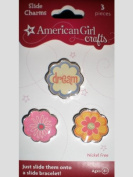 American Girl Slide Charms Flowers Dream