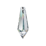 Faceted Glass Icicle Decorative Charm in 3.8cm in Clear 401