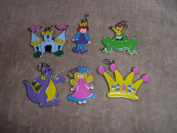 Fairy Tale Queen King Dragon Crown Castle Frog Enamel Charms