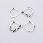 One Direction Infinity Charm Pendant Silver Tone