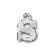 Pewter Initial Charm - Letter S
