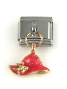 Italian Charm - Dangle Red Hat Charm