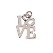 Silver Tone Robert Indiana's Love Square Charm Small 13mm