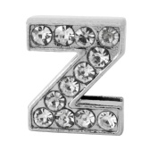 "12x Alphabet Slide Charm, Letter ""Z"", 8mm"