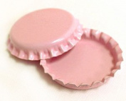 50 Light Pink ON BOTH SIDES Caps New Cap Unused Bottlecaps Coloured