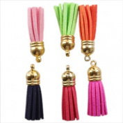 New Colourful Tassels Velvet Charms Accessories Jewellery Making Findings 10pcs/PKG 260255