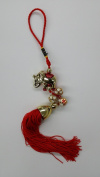Red Feng Shui Elephant with Bells Tassel