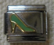 9mm Italian Charm... Green High Heeled Shoes