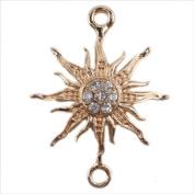 Golden Plated Adjustable Rope Bracelet Connector Link Charms -Sun Symbol 12pcs