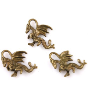 30Pcs Charms Flying Dragon Antique Bronze Alloy Findings Fit Handmade Crafts
