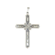 Cross with Jewels Necklace Pendant