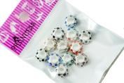 Charm Beads, Colour Crystal Spacer fit Pandora Chamilia Troll Biagi European Bracelet - Multi Colour