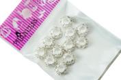 Charm Beads, Colour Crystal Spacer fit Pandora Chamilia Troll Biagi European Bracelet - Clear