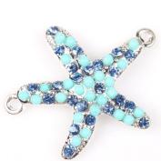 Silver Tone Adjustable Rope Bracelet Connector Link Sea Starfish Symbol