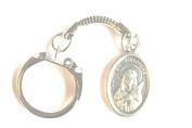 Rosarybeads4u St Saint Philomena Silver Coloured Metal Snake Keyring Bag Charm