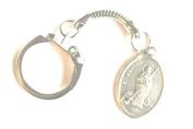Rosarybeads4u St Saint Martha Silver Coloured Metal Snake Keyring Bag Charm