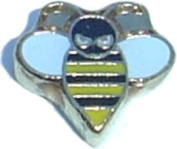 Angry Bee Floating Locket Charm