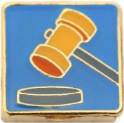 Courtroom Judge Gavel Floating Locket Charm