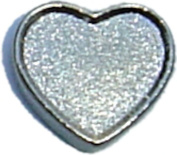 Silver Heart Floating Locket Charm