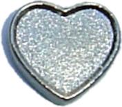 Silver Heart Floating Locket Charm