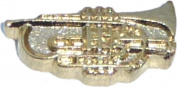 Trumpet Floating Locket Charm
