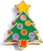 Christmas Tree Floating Locket Charm