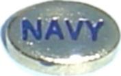 Navy Floating Locket Charm