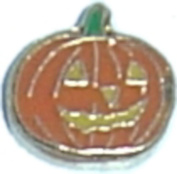 Jack O Lantern Floating Locket Charm