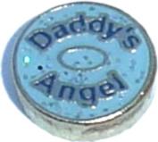 Daddys Angel Floating Locket Charm