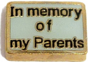 In Memory Of My Parents Floating Locket Charm