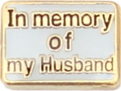 In Memory Of My Husband Floating Locket Charm