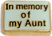 In Memory Of My Aunt Floating Locket Charm