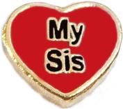 Love My Sis Floating Locket Charm