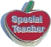 Special Teacher Floating Locket Charm