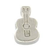 Silver Guitar Floating Locket Charm