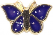 Blue Butterfly Floating Locket Charm