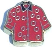 Red Shirt Floating Locket Charm