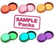 Metallic Bottle Cap Multi-Colour Pack 30 Count