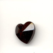 Crystal Heart Pendant - Black
