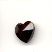 Crystal Heart Pendant - Black