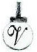 Ganz Initial Keyrings/Necklace - V