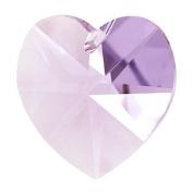 Crystal Heart Pendant - Lavender