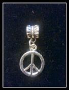 PEACE SIGN Charm fits PANDORA BRACELET