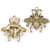 40pcs Antique Bronze Animal Bee Alloy Charms Jewellery Findings Fit Handmade