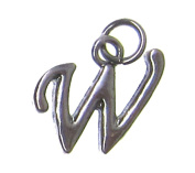 Charm Gallery 77166 Silver Plated Letter W Charm