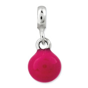 Sterling Silver Hot Pink Enamel Bead Enchancers, Best Quality Free Gift Box Satisfaction Guaranteed